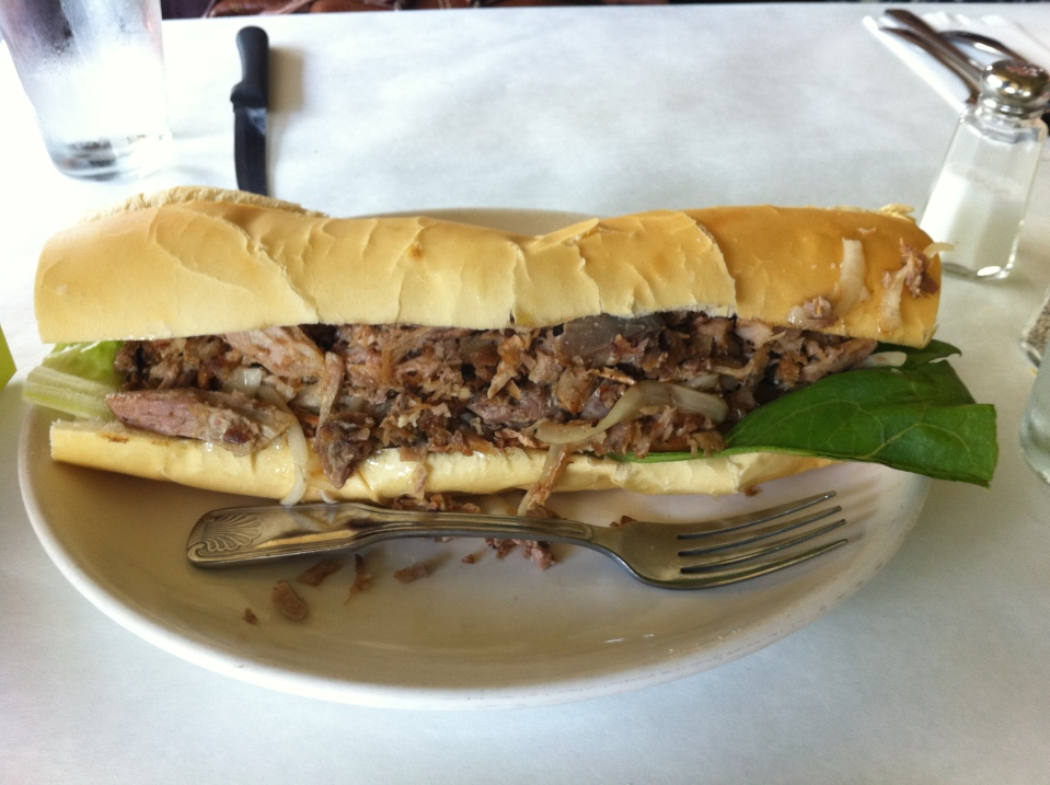 A pan con lechon from Miami-the gold standard