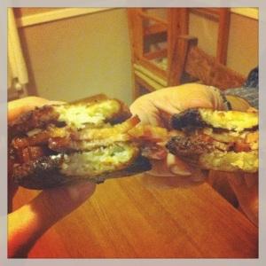 Bacon-latke-xsection